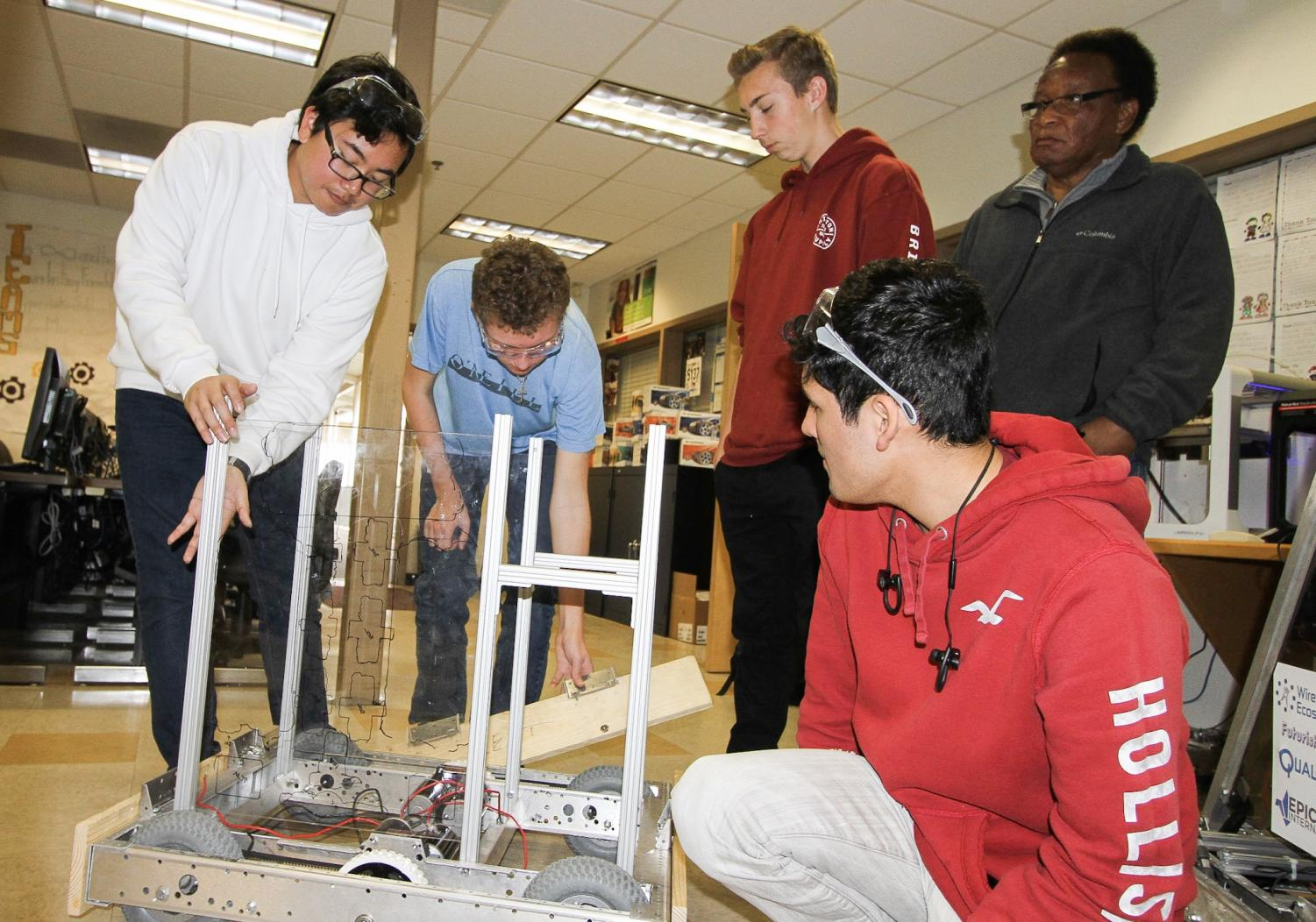 Robotics prepares to blast off into competition mode
