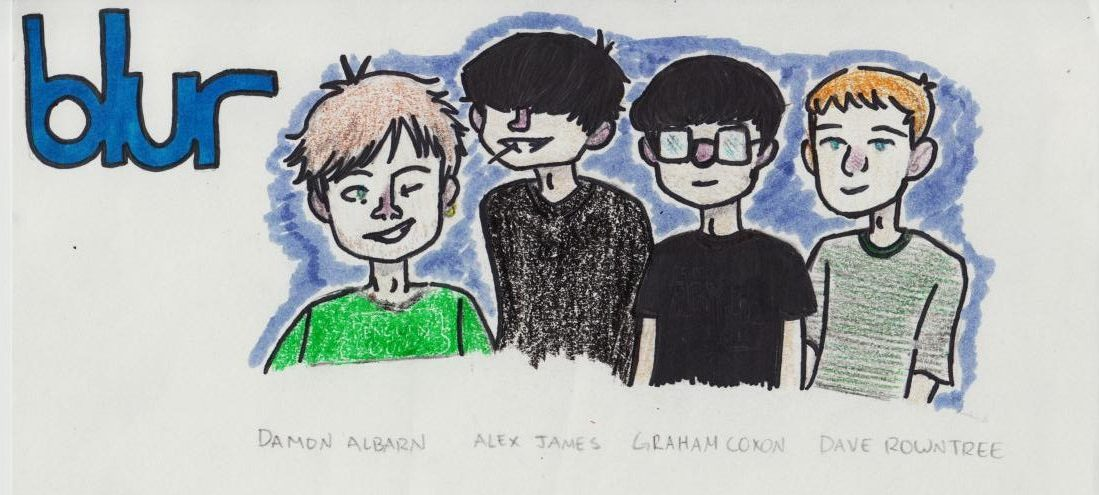 Blur members work together  to influence the world of Britpop.