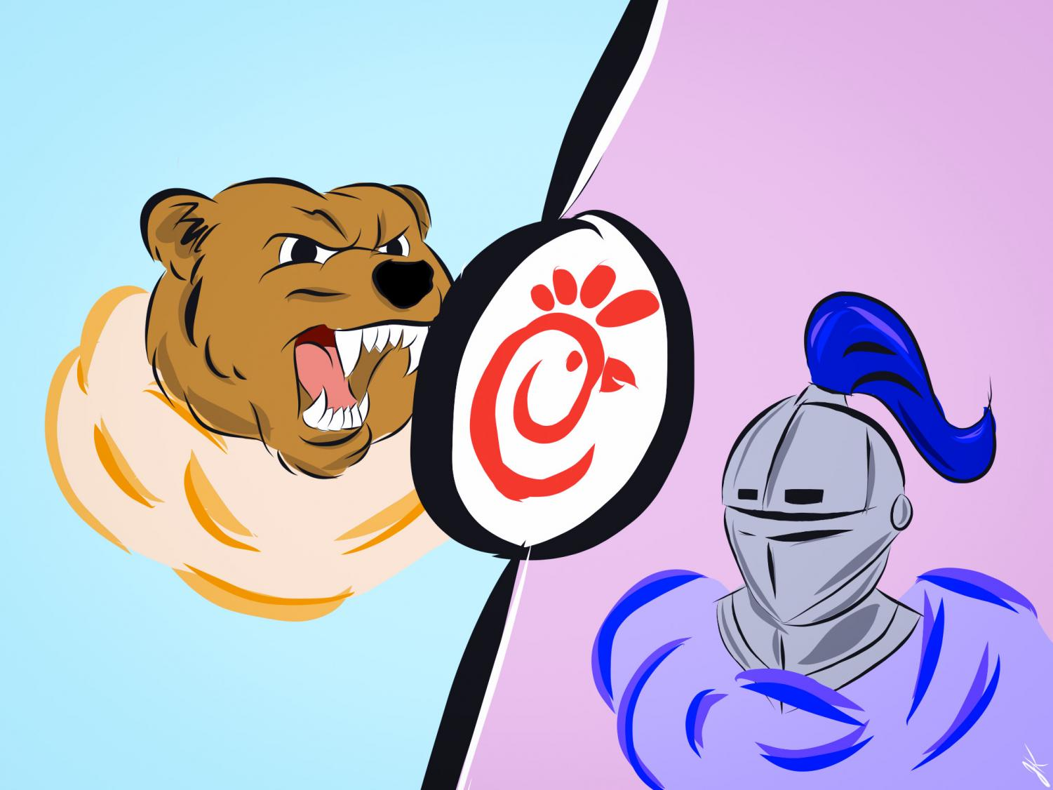 Grizzlies and Knights are ready to fight to claim the title of Chick-Fil-A Challenge Winner.