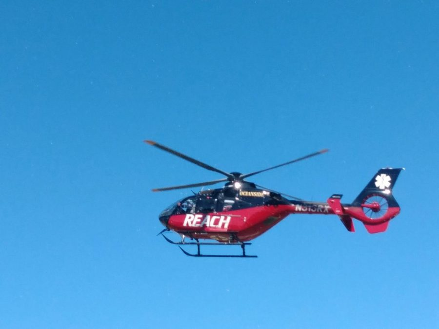 The firefighting helicopter is always on call to put out flames.