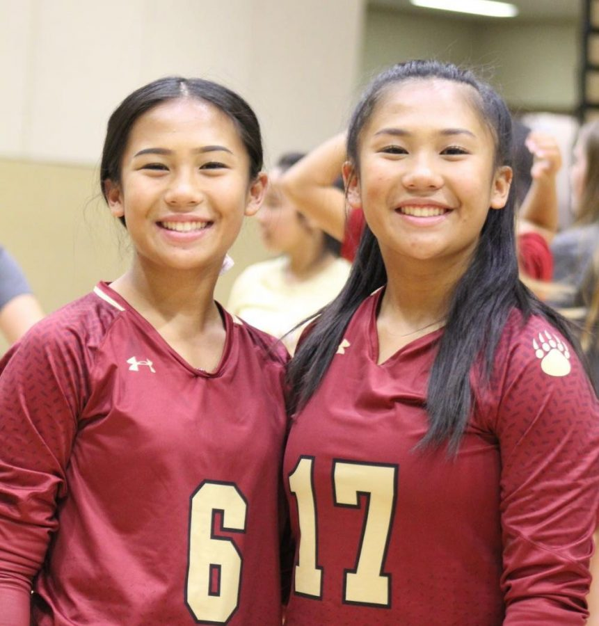 Isabella and Amelia Cayabyab (10) shine their smiles after playing a game against La Costa Canyon High School (10/25).