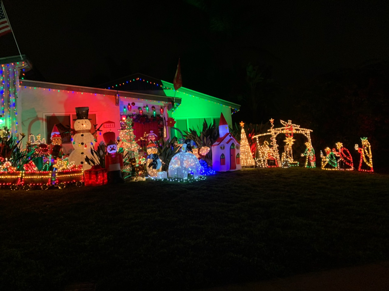 Holiday festivities abound around San Marcos as decorations light up the city.