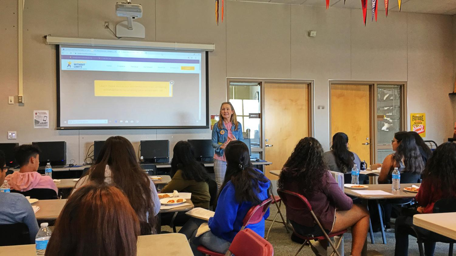 Attorny Amie Scully debunks misconceptions about ICE, as she leads her first workshop at Mission Hills High School.