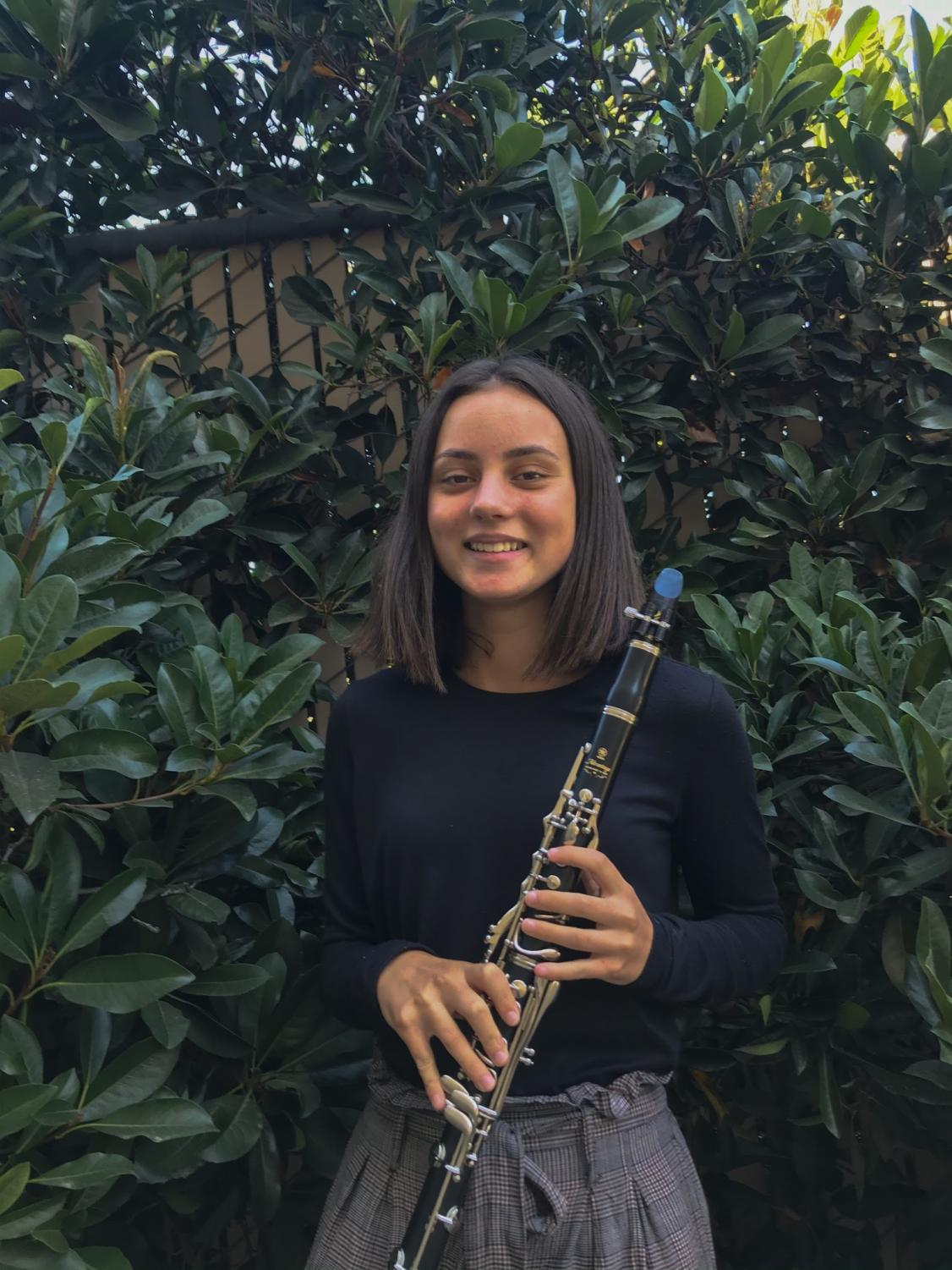 Sydney Stebbins (9) plans to participate in band throughout her entire high school career.