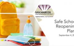 Title slide of SMUSD Reopening Plans Slide Deck