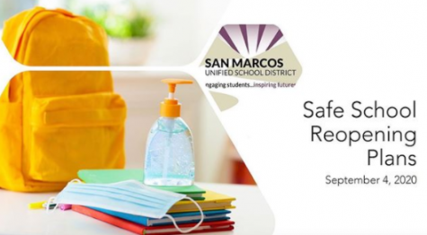 Title slide of SMUSD Reopening Plans Slide Deck