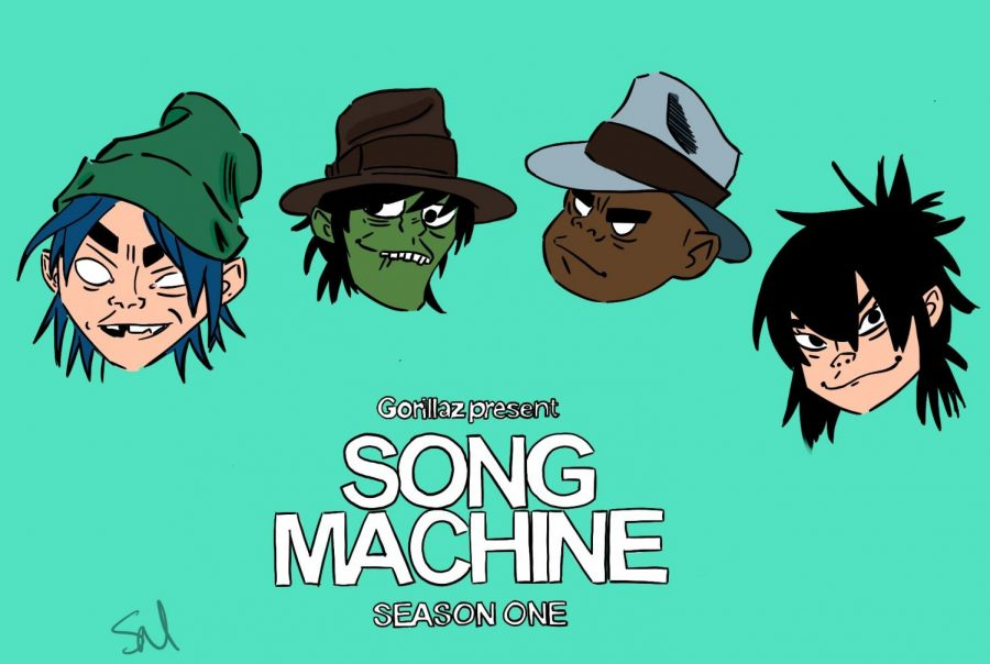 Gorillaz+latest+album+%22Song+Machine%22+is+releasing+on+Oct.+23.