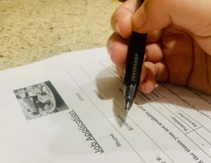 Teens find themselves filling out many job applications, hoping to be hired.