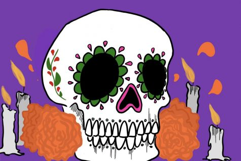 Ofrendas decorated with Calaveras are set up as a way to celebrate those who have fallen.