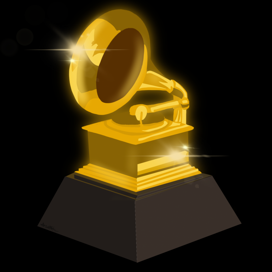 The+music+industry%27s+best+and+brightest+stars+were+recognized+during+the+2021+Grammys%2C+with+the+winners+taking+home+the+iconic+gilded+gramophone+trophy.