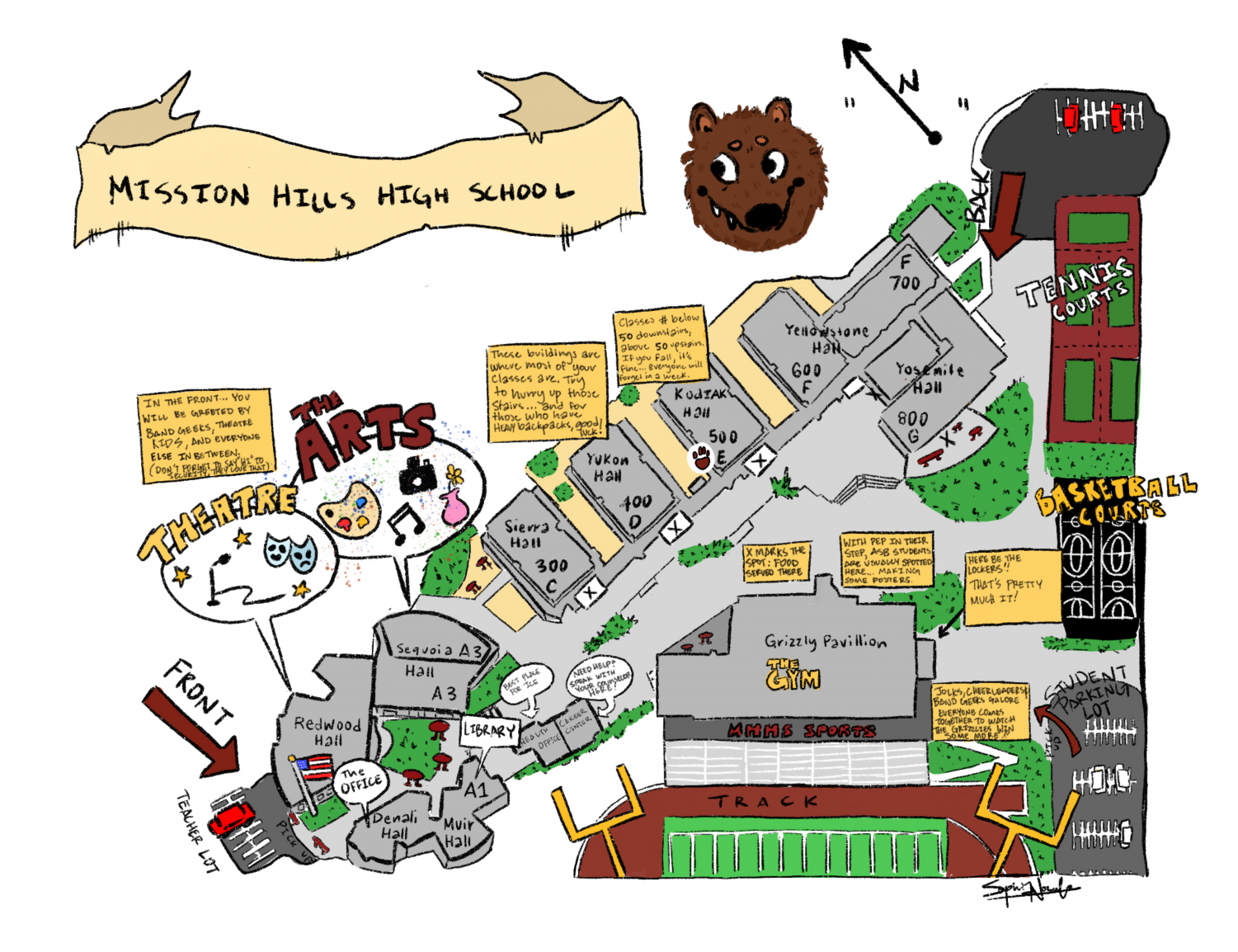 Student Campus Map c/o The Silvertip