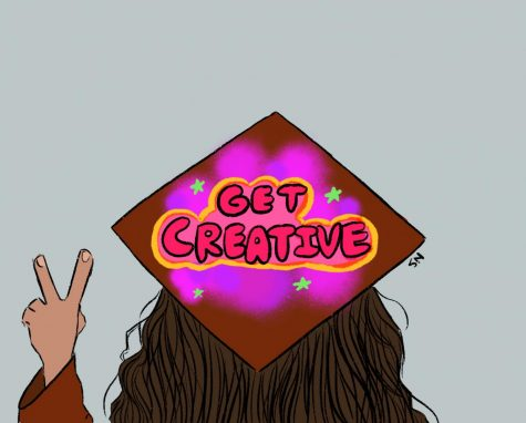 Decorating graduation caps would allow students to embrace their creative side.