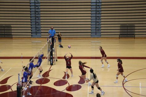 multiple players getting ready to spike the ball